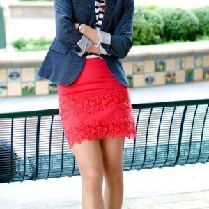 J. Crew   Daisy Lace Mini Skirt